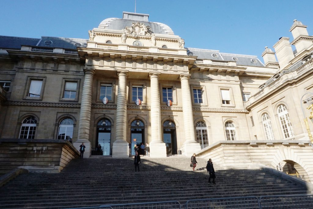 Palais de Justice in Île de la Cité in Paris