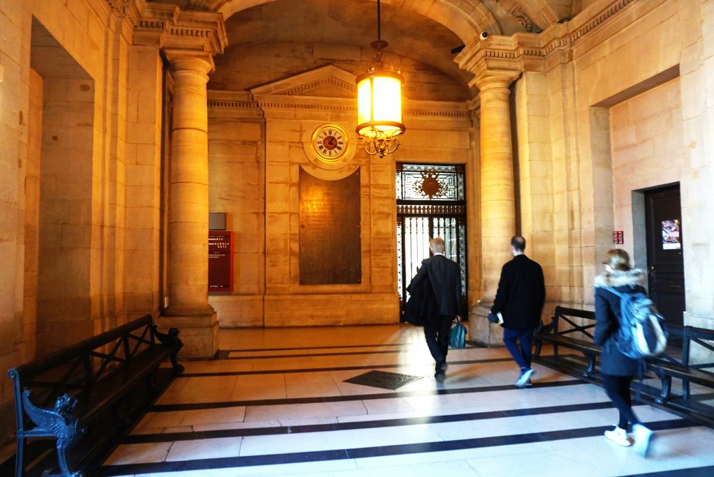 Inside atmosphere of Palais de Justice